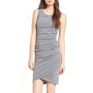 Nordstrom Leith Gray Ruched Tank Body Con Dress